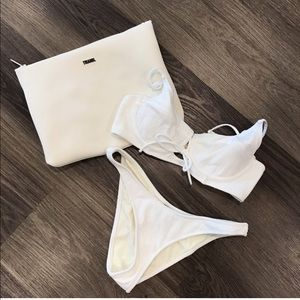 Triangl myrica white bikini size small